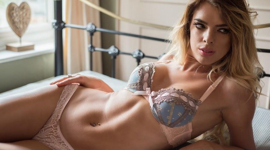European hot girl in lingerie