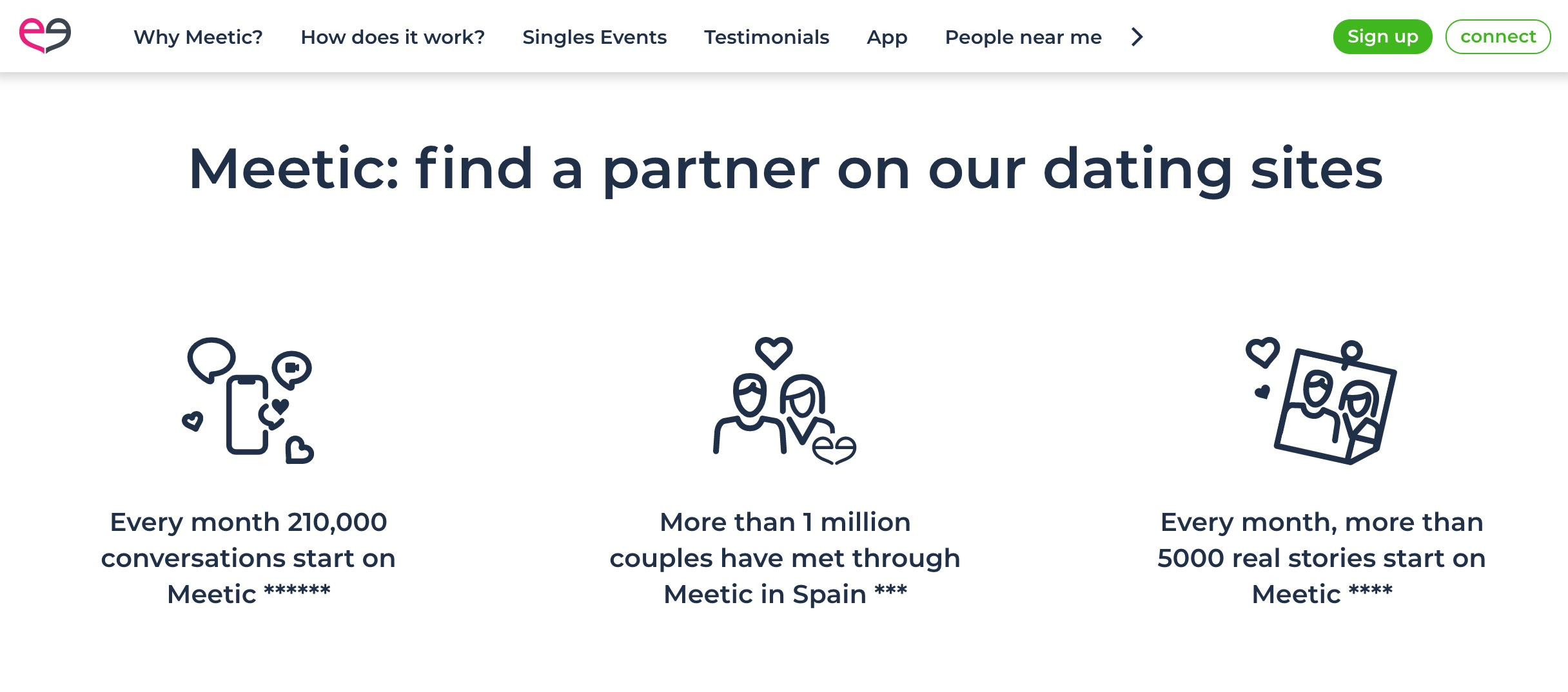 Meetic find a partner
